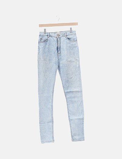 Jeans denim azul lavado