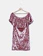Vestido rosa terciopelo Suiteblanco