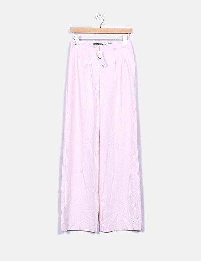 Pantalón rosa palazzo