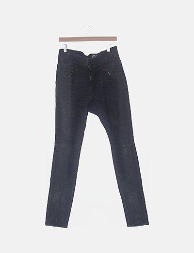 Pantalón denim baggy gris