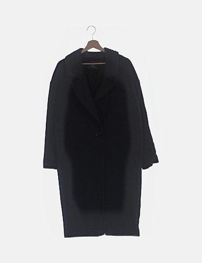 Abrigo largo gris print espiga