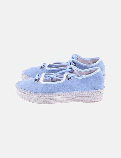 Alpargata azul lace up