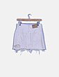 Mini falda blanco roto ripped Pull&Bear