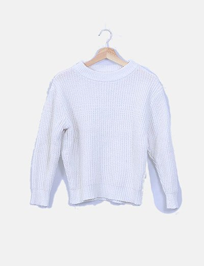 Jersey tricot blanco