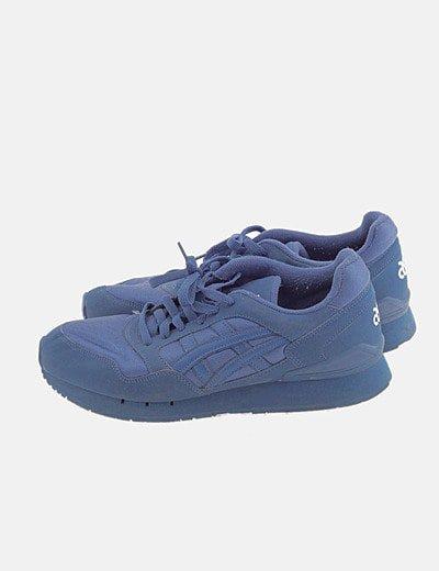 Sneaker combinada azul
