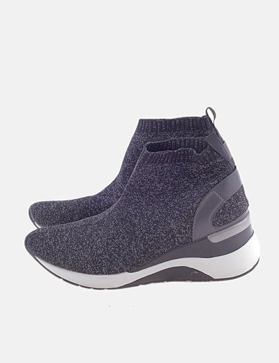 Sneaker calcetín gris