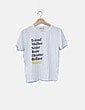 Camiseta blanca mensaje Stradivarius