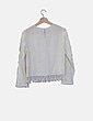Blusa blanca desflecada Zara