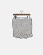 Falda midi blanca de encaje Suiteblanco