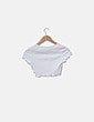 Crop top blanco detalle botones NoName