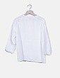 Camisa cuello mao blanca Zara