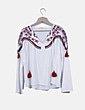 Blusa blanca estilo boho Zara