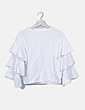 Camiseta blanca manga vuelo H&M