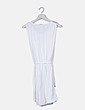 Vestido blanco con elástico cintura Massimo Dutti
