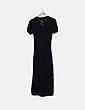 Vestido largo de punt negro Suiteblanco