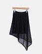 Falda negra de malla Suiteblanco
