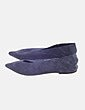 Zapato plano azul serraje Bimba&Lola