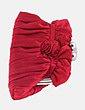 Clutch rojo detalle flor Nora