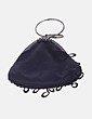Bolso mini negro con abalorios NoName