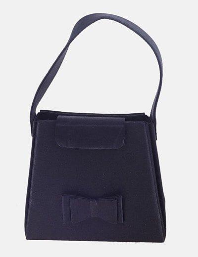Bolso mini negro detalle lazo