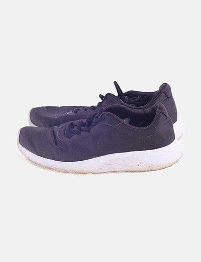 Sneaker satinada negra
