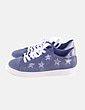 Sneaker azul con glitter Venca