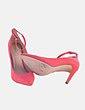 Stiletto rosa ante con tira Bershka