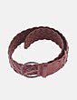 Cinturón trenzado piel Massimo Dutti