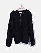 Jersey negro de punto con cremallera Suiteblanco