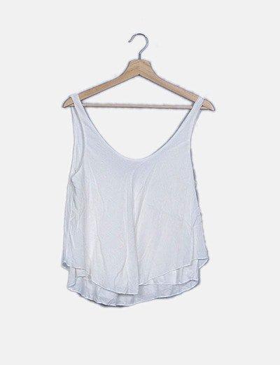 Blusa fluida blanca texturizada