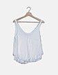 Blusa fluida blanca texturizada Zara