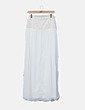 Maxi falda gasa blanca Suiteblanco
