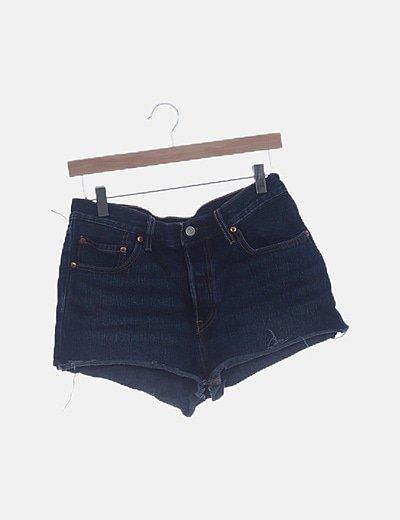 Shorts denim azul oscuro