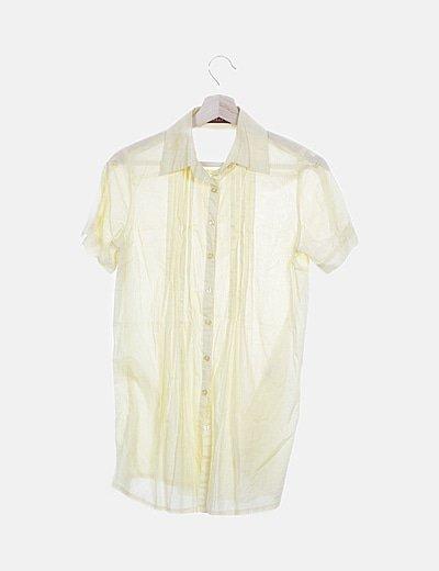 Camisa manga corta amarilla
