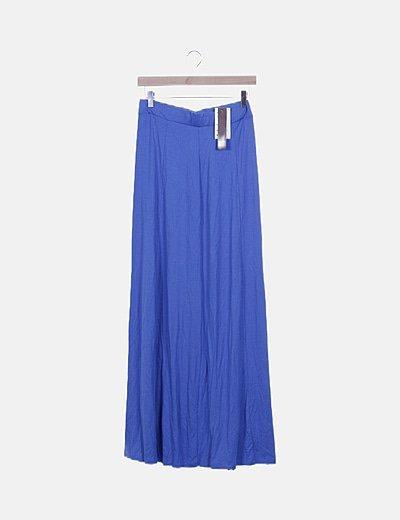 Maxi falda azul