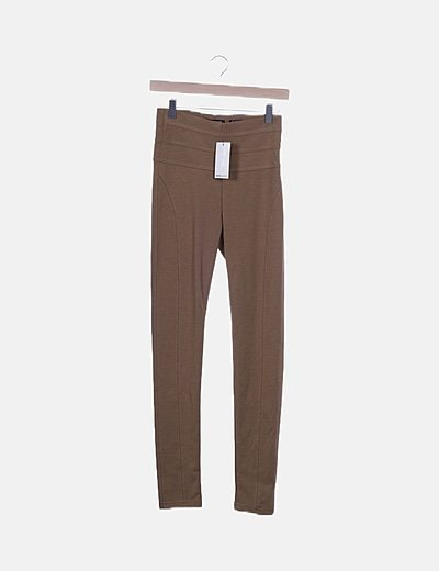 Legging high wais marrón