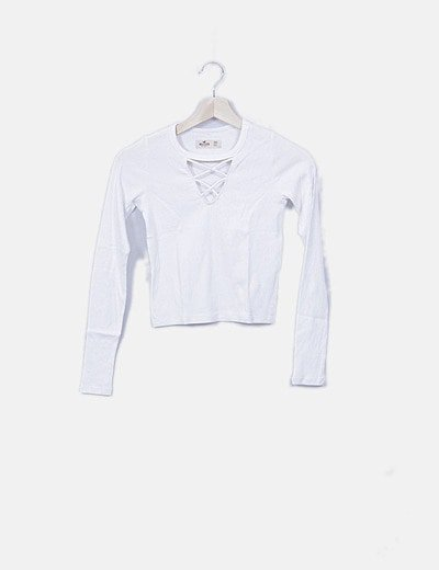 Camiseta blanca canalé