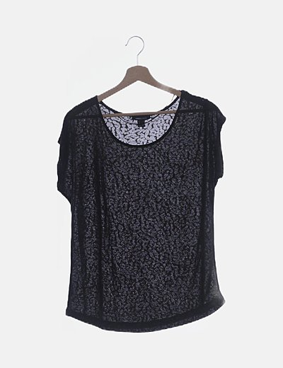 Camiseta manga corta animal print