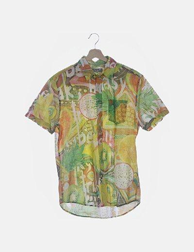Camisa estampada multicolor