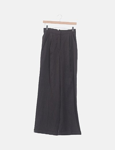 Conjunto blusa y pantalón de pinzas marrón