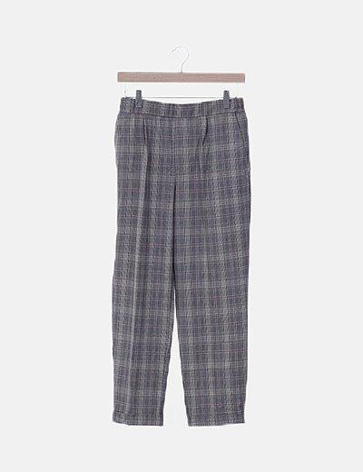 Pantalón chino cuadro gales