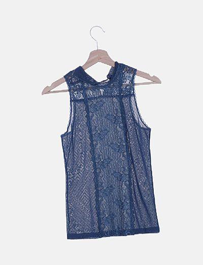 Blusa plumeti azul petróleo