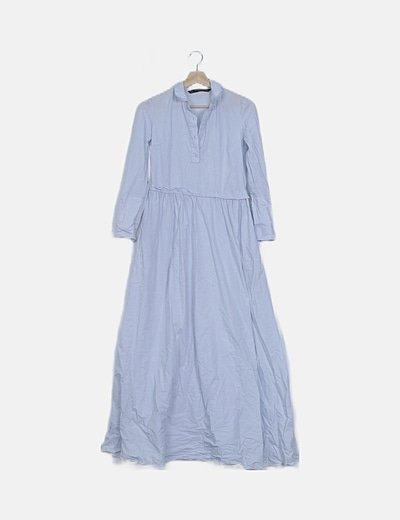 Vestido maxi azul claro