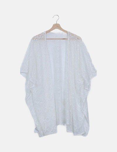 Kimono encaje blanco