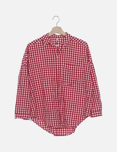 Camisa cuadro vichy rojo