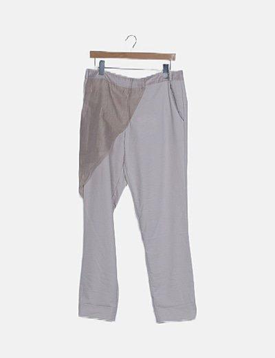 Pantalón beige doble capa