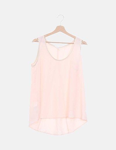 Blusa rosa palo detalle glitter