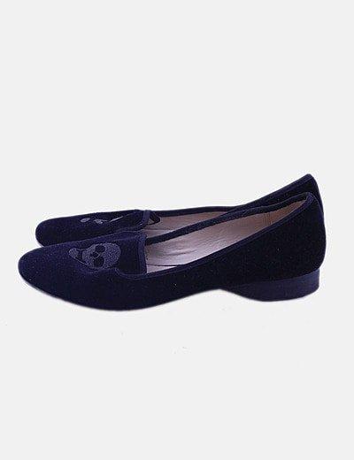Zapato slipper negro