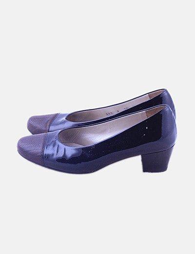 Zapato charol combinado