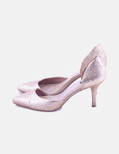 Zapatos salón glitter con aberturas